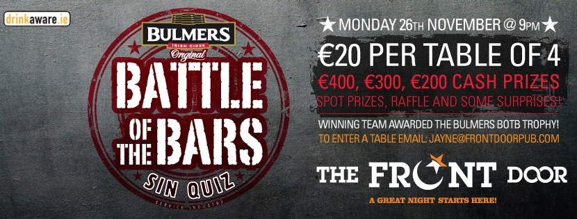 Bulmers Battle of the Bars Quiz The Return!