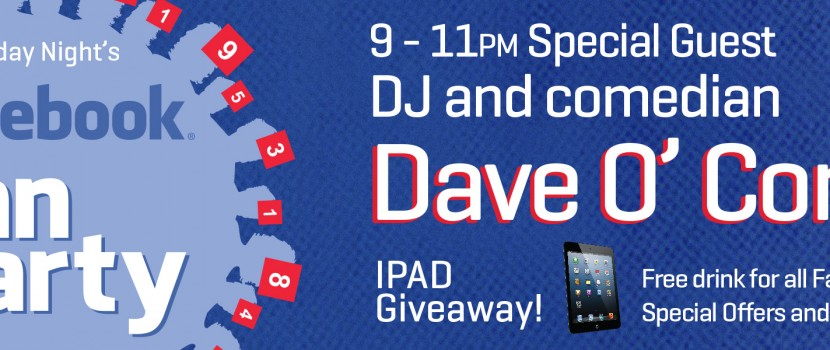Facebook Fan Party and I Pad giveaway! April 19th!