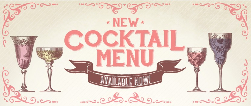 New Cocktail Menu Available Now