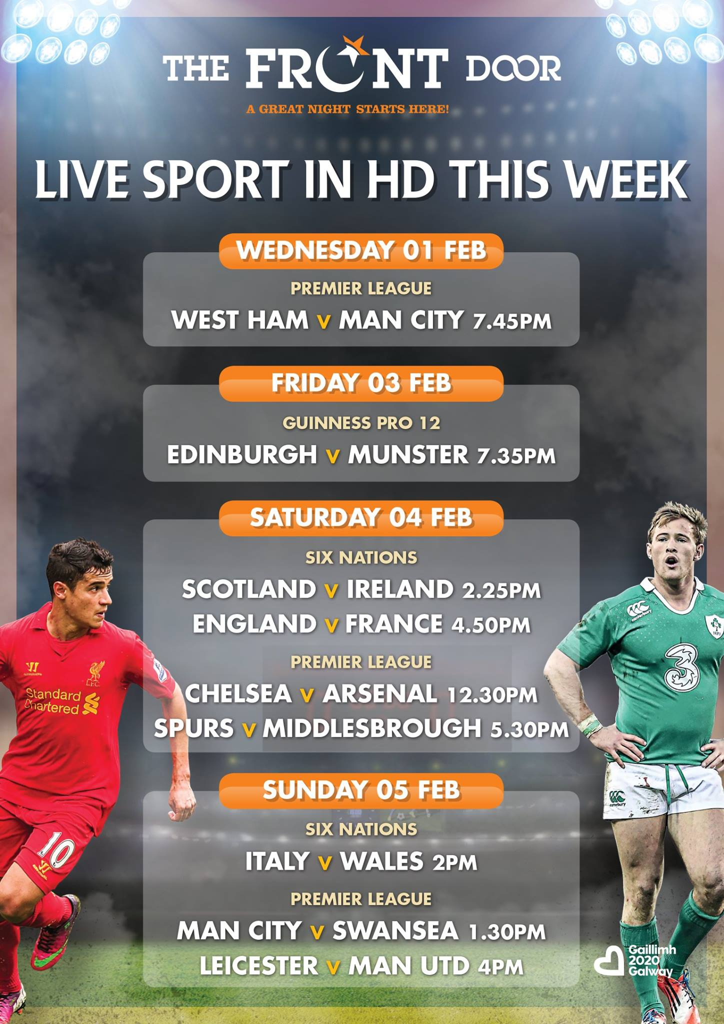 Live Sport in HD this week